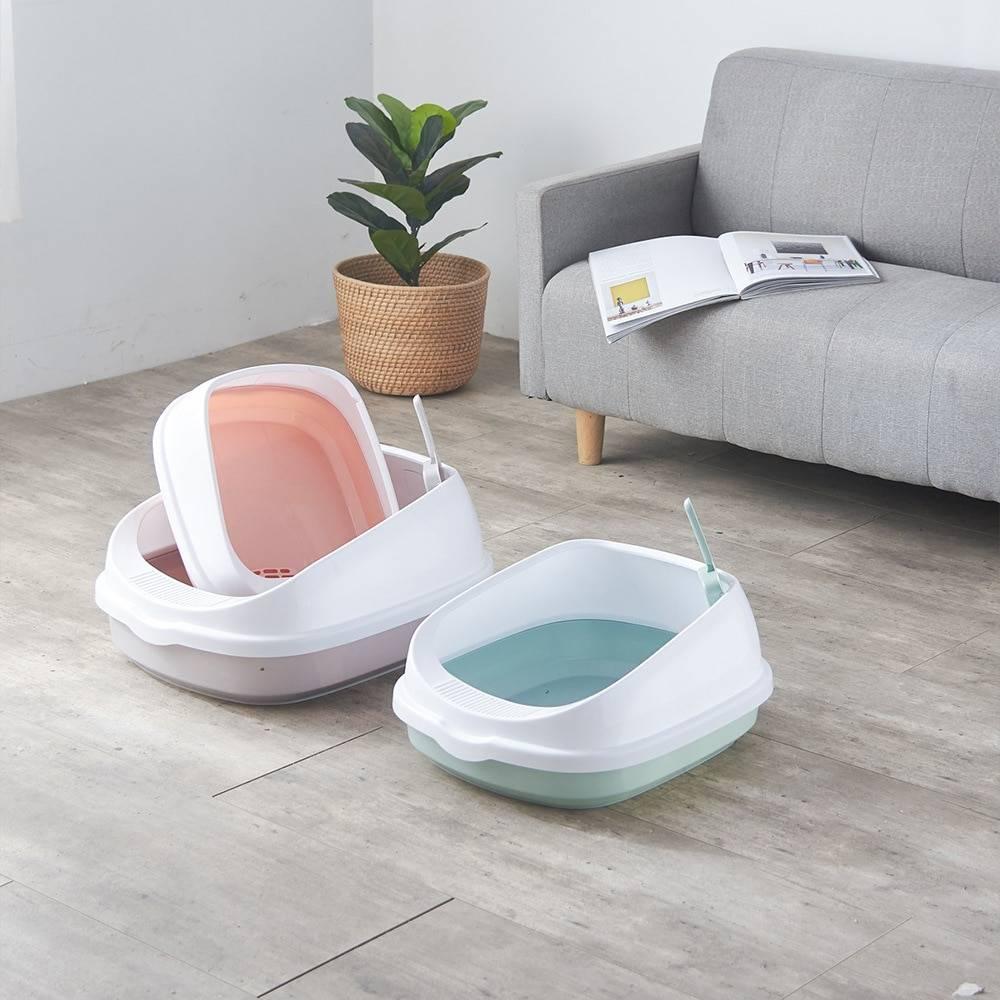 Cat's Dual Color Design Litter Box