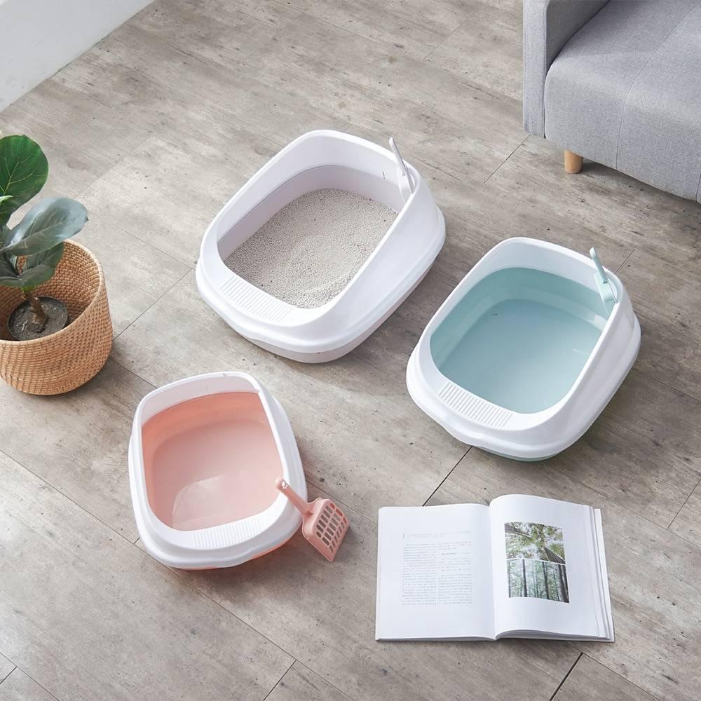 Cat's Dual Color Design Litter Box Cats & Dogs Pet Toilet