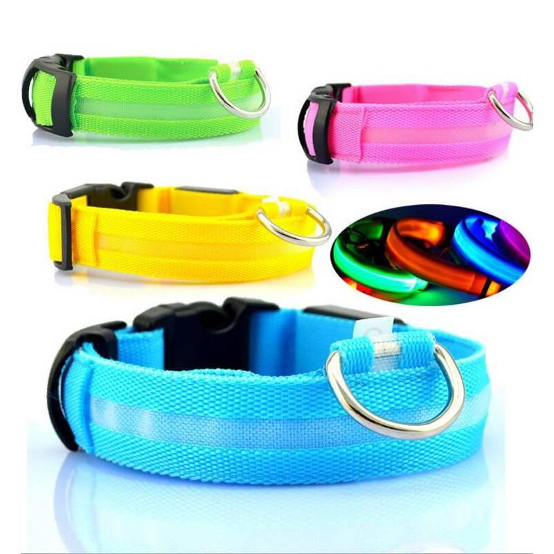 Dogs Nylon LED Collar Birds Supplies Cats & Dogs Fish & Aquatic
