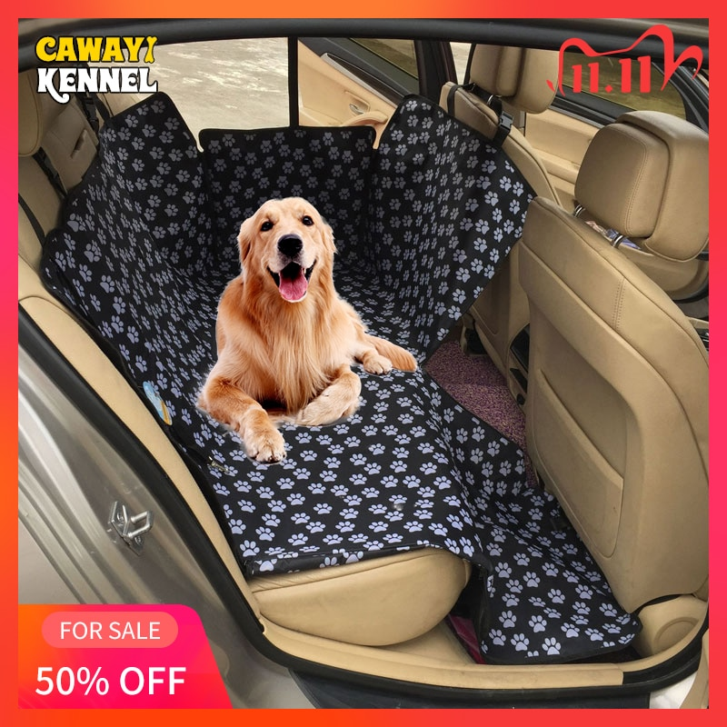 CAWAYI KENNEL Dog Carriers Waterproof Rear Back Pet Dog Car Seat Cover Mats Hammock Protector with Safety Belt Transportin Perro Uncategorized