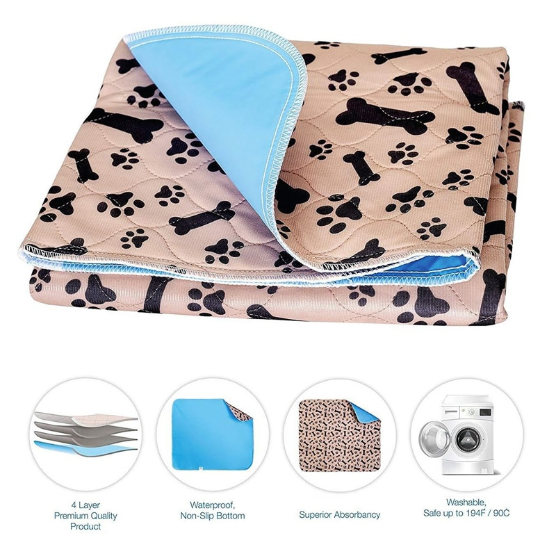 Dog Bed Mats Dog Urine Pad Puppy Pee Fast Absorbing Pad Rug for Pet Training In Car Home Bed Pet Toilet