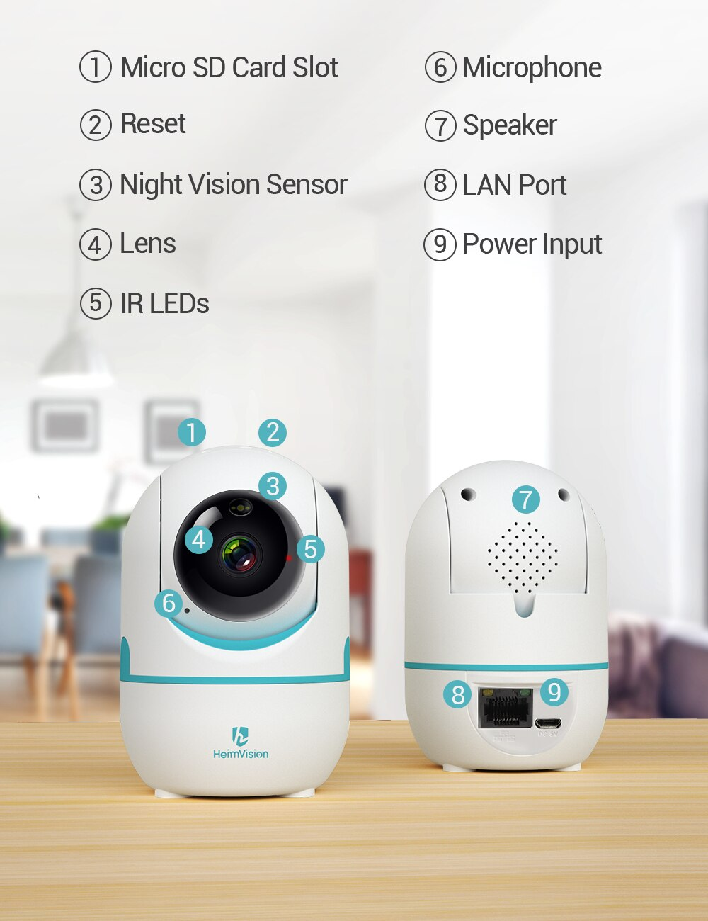 HeimVision 2K Security IP Camera Wifi 3MP Wireless 2 Way Audio Motion Detect Night vision Surveillance Camera for Home/Kids/Pet Accessories Cats & Dogs