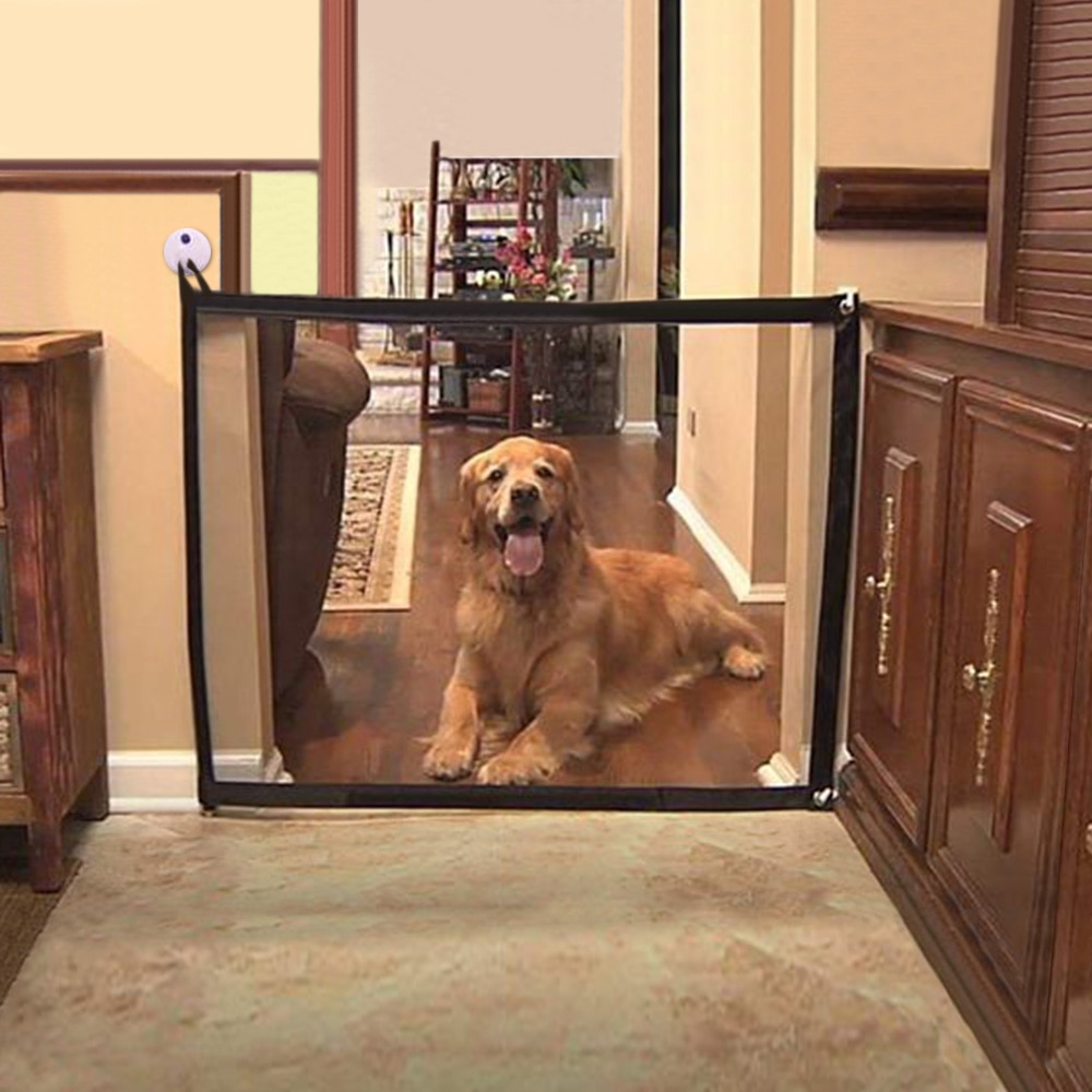 Pet Barrier Dog Gate Isolation Net Folding Mesh Safe Guard Safety Enclosure Dog Fence Home Protection Pet Separation Supplies Accessories Cats & Dogs