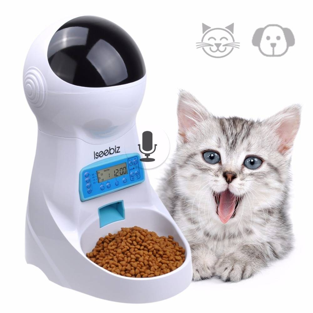 LCD Screen Automatic Pet Feeder with Voice Record Cats & Dogs Products