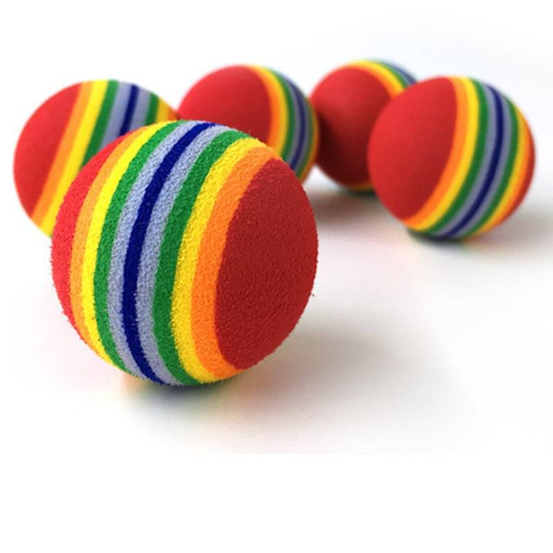 Rainbow Chewing Rattle Balls for Cat Cat Toys Cats & Dogs