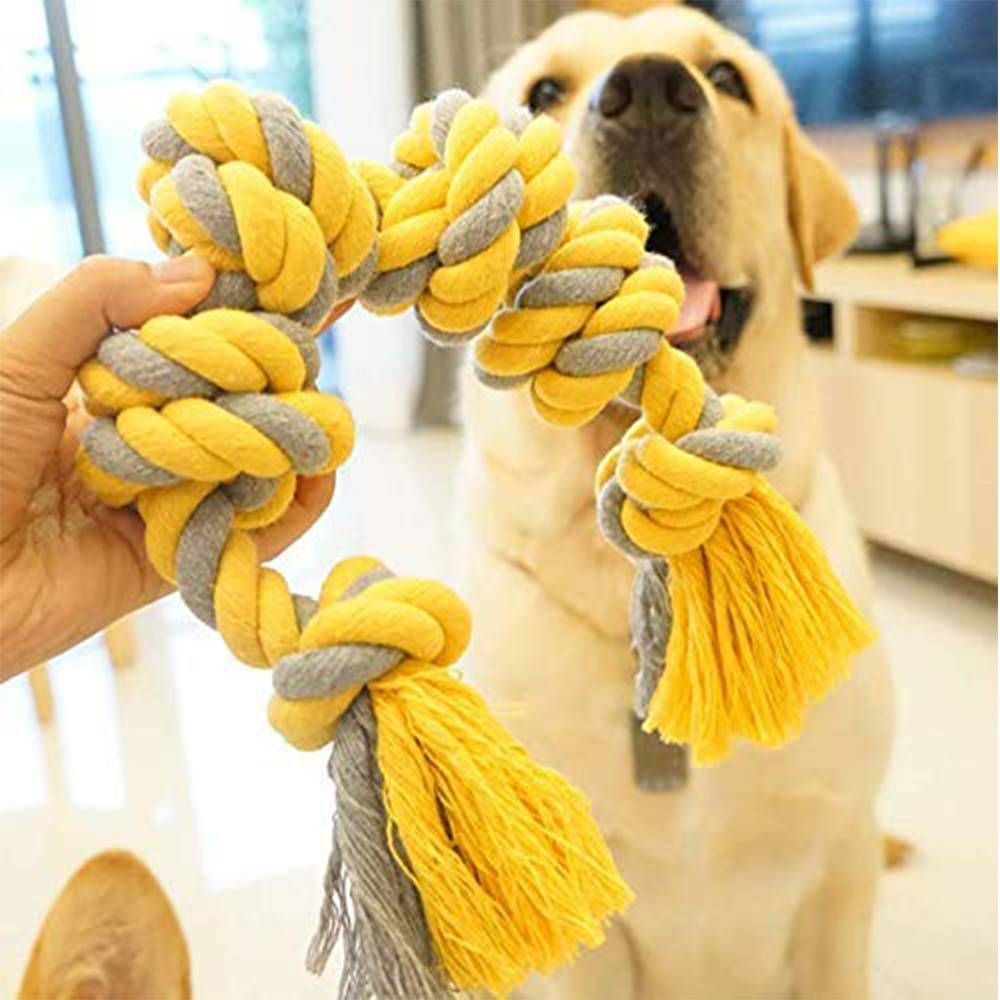 Knitted Colorful Knots Gnawing Toy Cat Toys Cats & Dogs