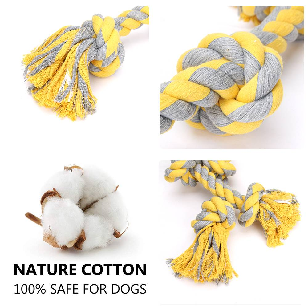 Knitted Colorful Knots Gnawing Toy